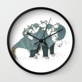 Possum Transport Wall Clock