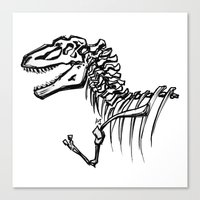 t rex Canvas Prints featuring T-Rex by ALT Illustration