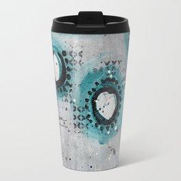 Charcoal Circles Travel Mug