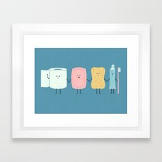 The Bathroom Gang Framed Art Print