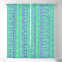 Aztec pattern in turquoise Blackout Curtain