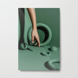 Green abstract background Metal Print