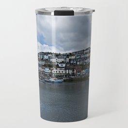 Brixham The Colourful Harbour Travel Mug