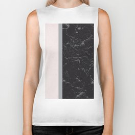 Grey Black Marble Meets Romantic Pink #2 #decor #art #society6 Biker Tank