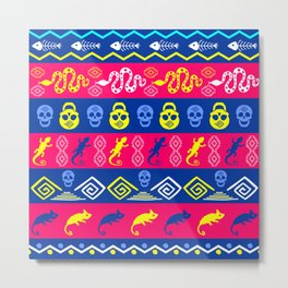 Mexican bright pattern. Metal Print