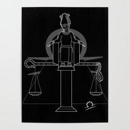 Monstrous Zodiacs: Libra, the god Osiris Poster