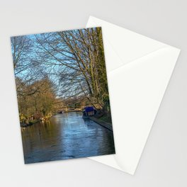 The Kennet and Avon at Woolhampton Stationery Cards