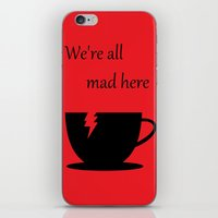 mad iPhone & iPod Skins featuring Mad by Crystal Granlund