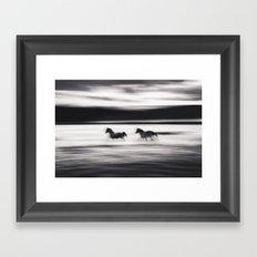 Horses in Abstract Framed Art Print