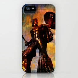 Statue of Achilles in London Hyde Park. iPhone Case
