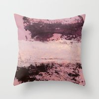burgundy Throw Pillows featuring burgundy rose by patternization