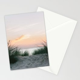Dune grass at colourful pastel sunset | Painted sky at North Sea, Netherlands | Fine art travel photography Stationery Cards