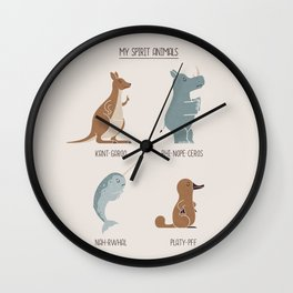Spirit Animals Wall Clock