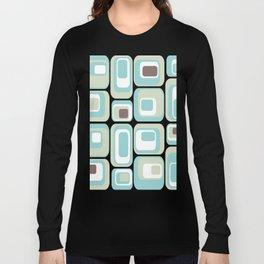 Retro Rectangles Mid Century Modern Geometric Vintage Style Long Sleeve T-shirt