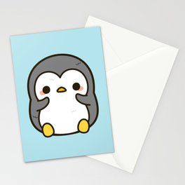 Shy penguin Stationery Cards