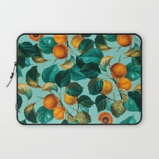 Peach and Leaf Pattern Laptop Sleeve