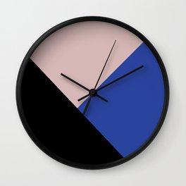 Getting Blocky Blue Wall Clock