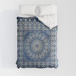 Old Bookshop Magic Mandala in Blue Comforters