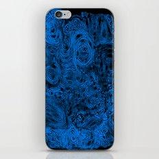 Crazy blue iPhone & iPod Skin