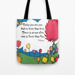 Lorax Quote Tote Bag