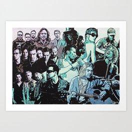 Rock Triptych Panel A Art Print