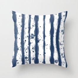 Wet Stripe Throw Pillow