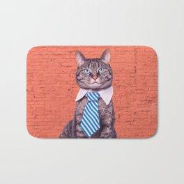 the stylish cat Bath Mat