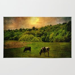 Cows in the Field Rug