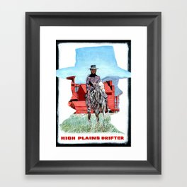 High Plains Drifter Poster Framed Art Print