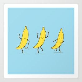 Banana shake Art Print