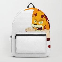 Cat blood bone terrible fear Halloween Backpack