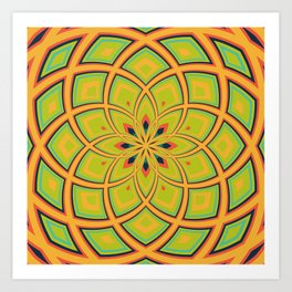 Spiral Rose Pattern D 4/4 Art Print