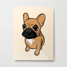 Fawn Frenchie Puppy Metal Print