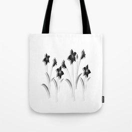 Schwarze Lilien Tote Bag