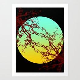 Moonlight Trees Art Print
