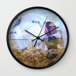 never be free Wall Clock