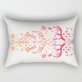 La Vie & La Mort – Pink & Orange Ombré Rectangular Pillow