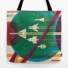 Space Ships Pop Art Vintage Tote Bag