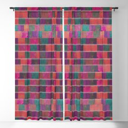 """Full Color Squares Pattern"" Blackout Curtain"