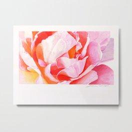 Beth's Rose Watercolor Metal Print