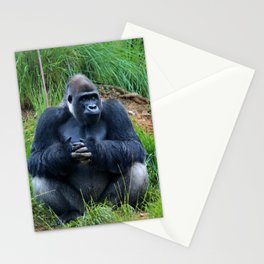Gorilla Waiting For Lunch Stationery Cards