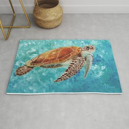 Turtle Swimming Rug