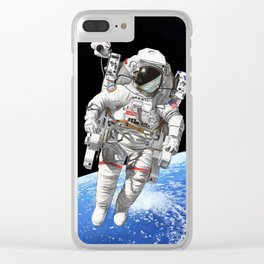A heck of a big leap Clear iPhone Case