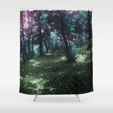 hometown forest Shower Curtain