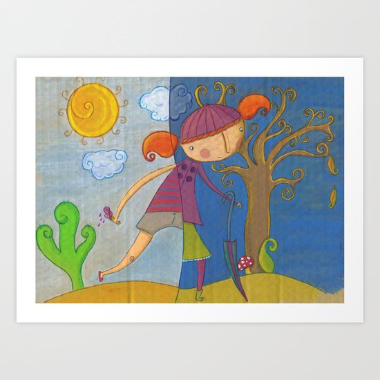 summer - autumn Art Print