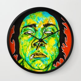 Monster Bud #1 Smoking Wall Clock