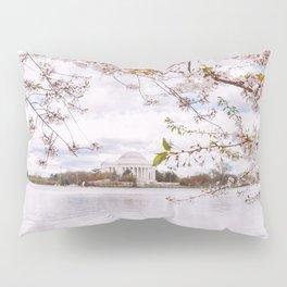 Washington DC Cherry Blossoms - Thomas Jefferson Memorial III Pillow Sham