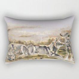 Totem wolf Sunset Rectangular Pillow
