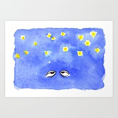 Starry Eyes Art Print