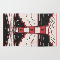 lighthouse Area & Throw Rugs featuring Lighthouse by Andy Rogerson